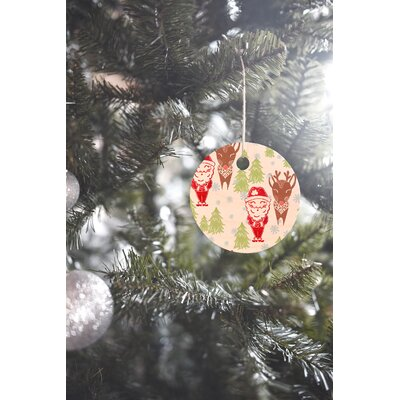 Dash and Ash Best Bros from the North Pole Round Shaped Ornament