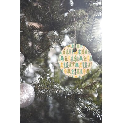 Heather Dutton Oh Christmas Tree Frost Round Shaped Ornament
