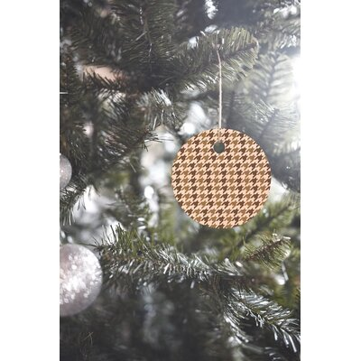 Allyson Johnson Classy Houndstooth Round Shaped Ornament