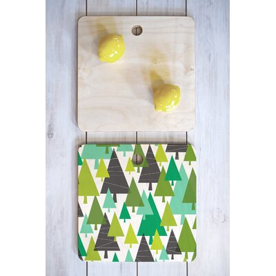 Heather Dutton Wood Winter Cutting Board Shape: Square