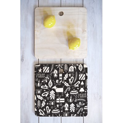 Heather Dutton Wood Peace And Joy Cutting Board Shape: Square