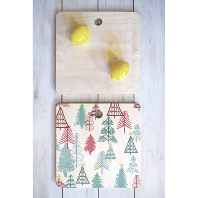 Dash And Ash Wood Me Oh My Trees Cutting Board Shape: Square