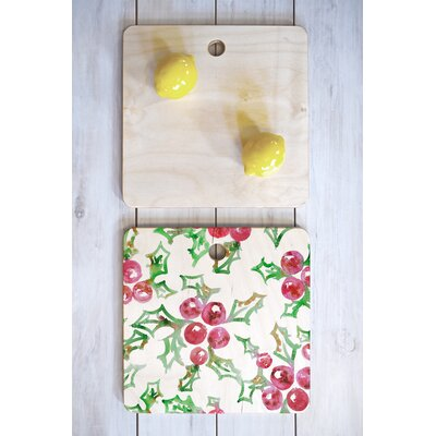 Dash And Ash Wood All I Want For Christmas Cutting Board Shape: Square