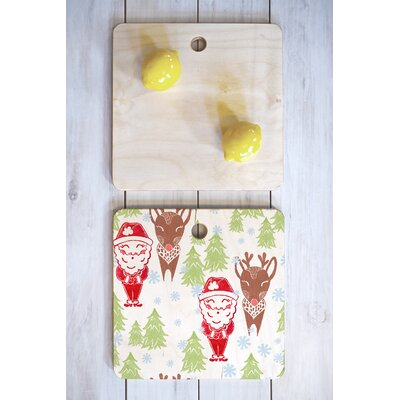 Dash And Ash Wood Best Bros From The North Pole Cutting Board Shape: Square