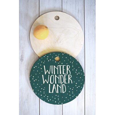 Zoe Wodarz Wood Winter Wonder Cutting Board Shape: Round