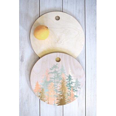 Iveta Abolina Wood Blush Forest Cutting Board Shape: Round