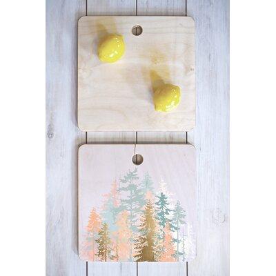 Iveta Abolina Wood Blush Forest Cutting Board Shape: Square