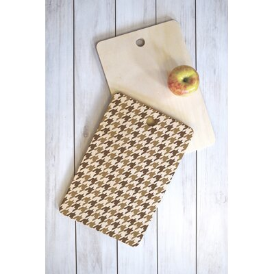 Allyson Johnson Wood Classy Houndstooth Cutting Board Shape: Rectangle