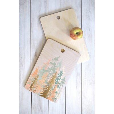 Iveta Abolina Wood Blush Forest Cutting Board Shape: Rectangle