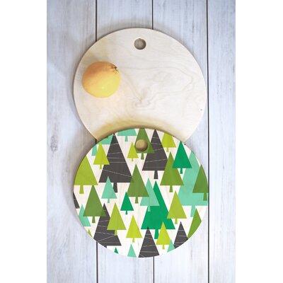 Heather Dutton Wood Winter Cutting Board Shape: Round