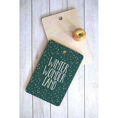 Zoe Wodarz Wood Winter Wonder Cutting Board Shape: Rectangle