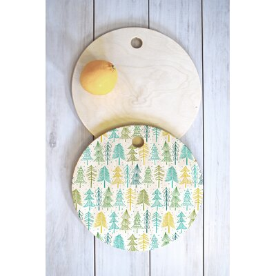 Heather Dutton Wood Oh Christmas Tree Frost Cutting Board Shape: Round