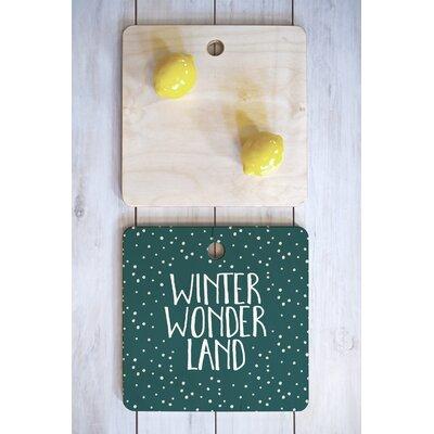 Zoe Wodarz Wood Winter Wonder Cutting Board Shape: Square