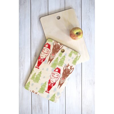Dash And Ash Wood Best Bros From The North Pole Cutting Board Shape: Rectangle