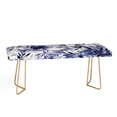 Jacqueline Maldonado Faux Leather Bench Color: Gold