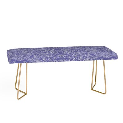 Faux Leather Bench Color: Gold