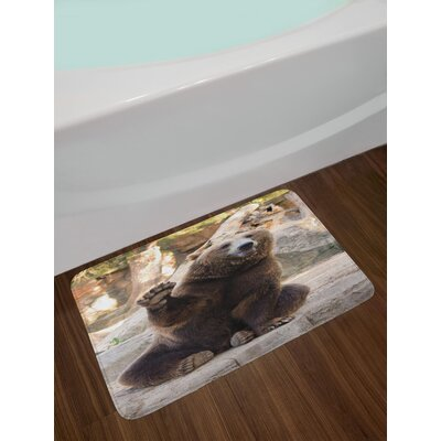 Friendly Bear Bath Rug