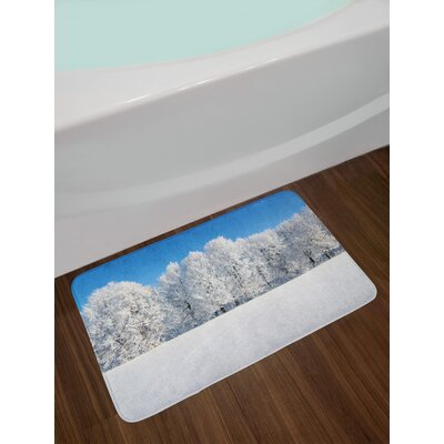 Frosted Winter Bath Rug