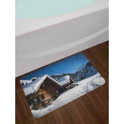 Wooden Winter Bath Rug