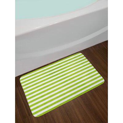 Horizontal Lime Green Bath Rug