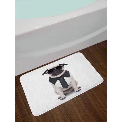 East Urban Home Cool Pug Bath Rug