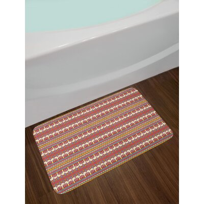 Floral and Ethnic Bath Rug