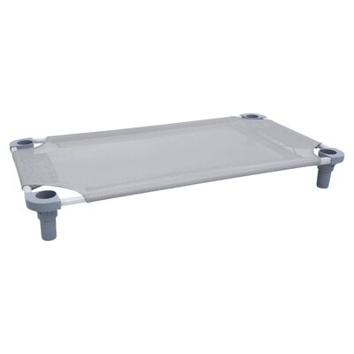 Toddler Unassembled Cot Fabric Color: Gray, Size: Standard, Leg Color: Gray