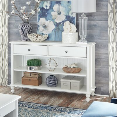 Witherspoon Console Table Color: Beach White