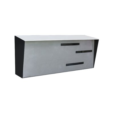 Modern Wall Mounted Mailbox Color: White/Stainless/Black