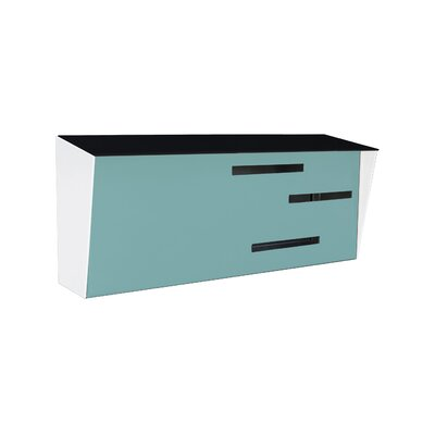 Modern Wall Mounted Mailbox Color: Black/Robin Egg/White