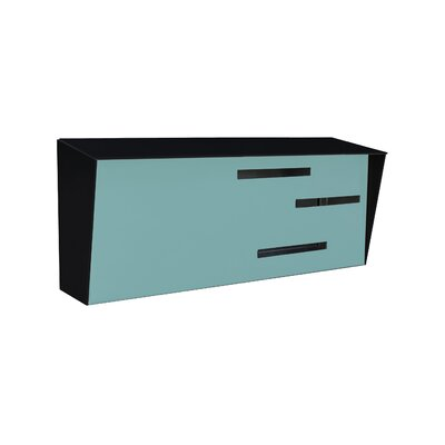 Modern Wall Mounted Mailbox Color: Black/Robin Egg