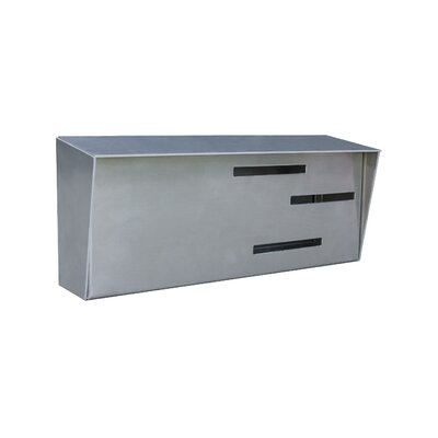 Modern Wall Mounted Mailbox Color: Stainless