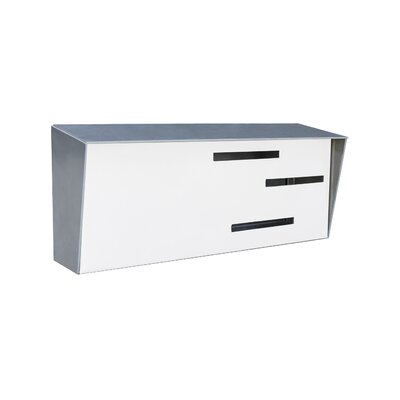 Modern Wall Mounted Mailbox Color: Stainless/White