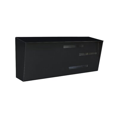 Modern Wall Mounted Mailbox Color: Black