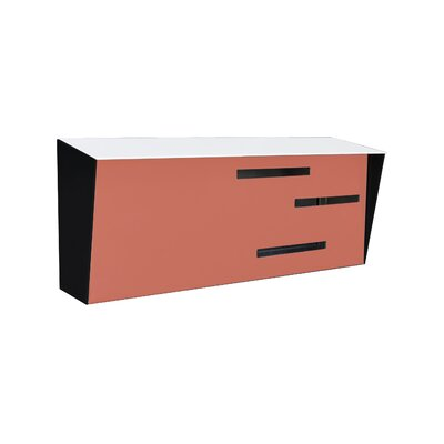 Modern Wall Mounted Mailbox Color: White/Coral/Black
