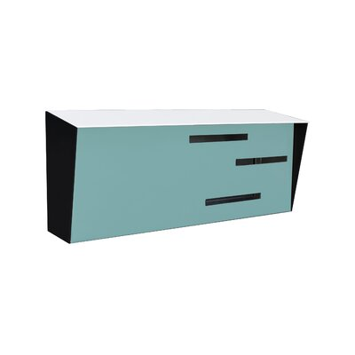 Modern Wall Mounted Mailbox Color: White/Robin Egg/Black
