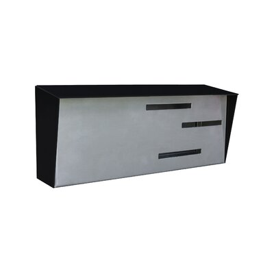 Modern Wall Mounted Mailbox Color: Black/Stainless