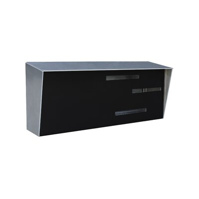 Modern Wall Mounted Mailbox Color: Stainless/Black
