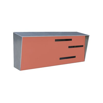 Modern Wall Mounted Mailbox Color: Stainless/Coral