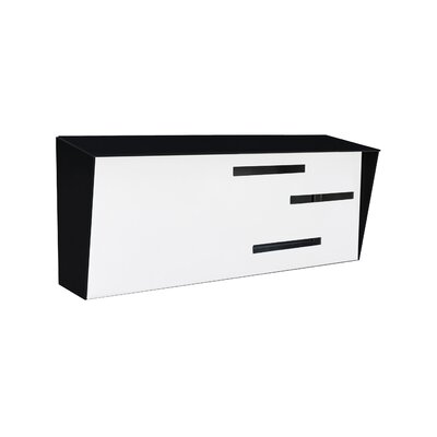 Modern Wall Mounted Mailbox Color: Black/White