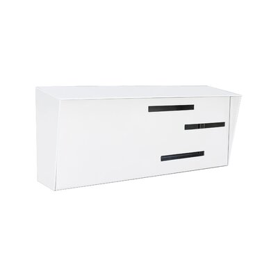 Modern Wall Mounted Mailbox Color: White