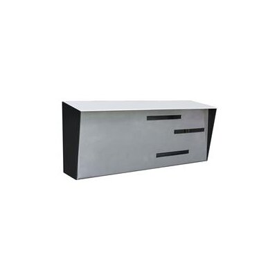 Modern Wall Mounted Mailbox Color: Black/Stainless/White