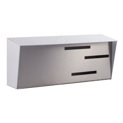 Modern Wall Mounted Mailbox Color: White/Stainless