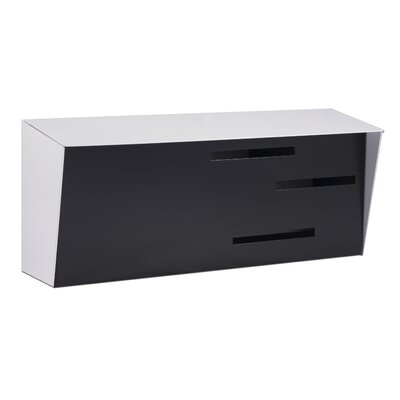 Modern Wall Mounted Mailbox Color: White/Black