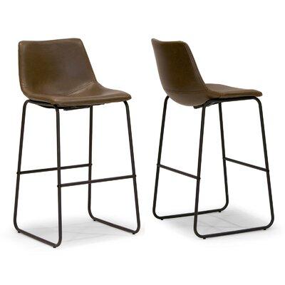 "Myrick 28.5"" Bar Stool Upholstery: Brown"