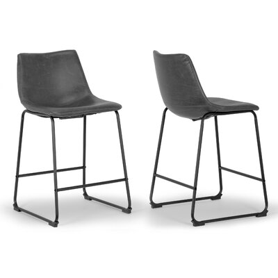 "Myrick 23.5"" Bar Stool Upholstery: Grey"