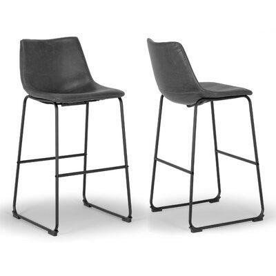 "Myrick 28.5"" Bar Stool Upholstery: Grey"