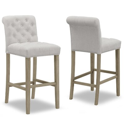 "Geremia 29"" Bar Stool Color: Beige"
