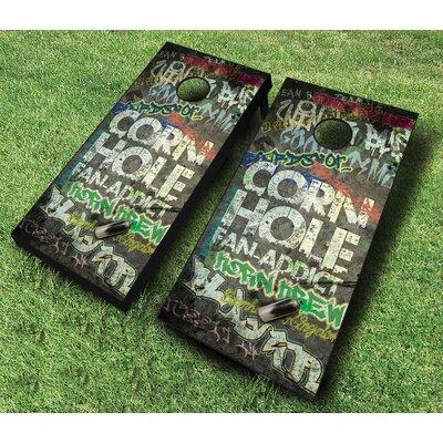 10 Piece Fan Addict Cornhole Set Bean Bag Color: Red/Navy Blue