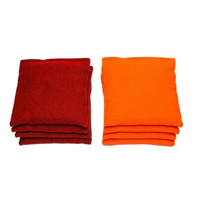 Beach Themed Cornhole Set Color: Red/Orange